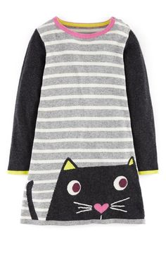 Free shipping and returns on Mini Boden Fun Knit Dress (Toddler Girls, Little Girls & Big Girls) at Nordstrom.com. A feathered or feline friend will keep her company wherever she goes in this cozy knit dress softened with a touch of cashmere.