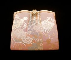 Vintage Japanese Kimono  Bag Clutch  Gold Pink by VintageFromJapan, $25.00 #fashion #style #bag #clutch #bridal