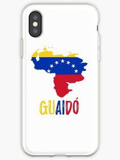 'Venezuela map flag - Guaido President' iPhone Case by CacaoDesigns Venezuela Flag, Iphone Case Covers, Presidents, Map, Stickers, Artwork, Prints, Tables, Minimalist