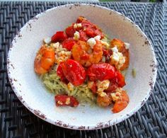 Everything's Better Sprouted – Tomato Prawn and Pesto Orzo Pasta