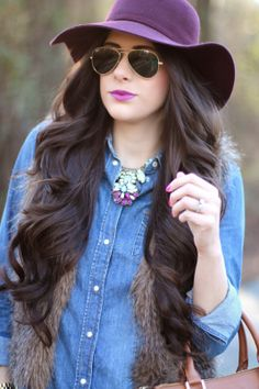 si Zoey - great hat, shades and hair, I don't even mind the denim
