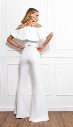 MACACÃO OMBRO TRANÇADO - MAC18289-99 | Skazi, Moda feminina, roupa casual, vestidos, saias, mulher moderna
