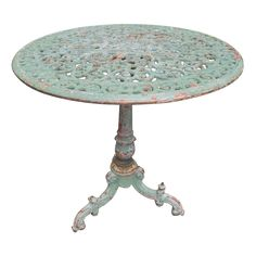 19th.C. Italian Cast Iron Garden Table | From a unique collection of antique and modern garden furniture at http://www.1stdibs.com/furniture/building-garden/garden-furniture/