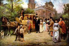 """George Washington Arriving at Christ Church"" Easter Sunday, 1795"