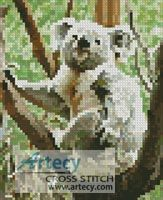 Mini Koala Scratch Cross Stitch Pattern http://www.artecyshop.com/index.php?main_page=product_info&cPath=11_12&products_id=875