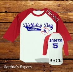 First Birthday Boy Personalized Raglan Sleeve by SophiesPapers