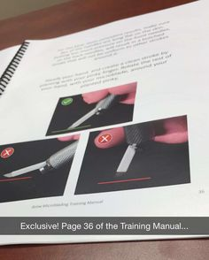"""19 Likes, 4 Comments - Beauty Mark Brows (@beautymarkbrows) on Instagram: """"#Exclusive look at our Brow Microblading Training Manual. Interested in taking our course? Visit us…"""""""
