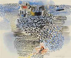 Raoul Dufy , La baie de Napels 1922 Watercolor and gouache