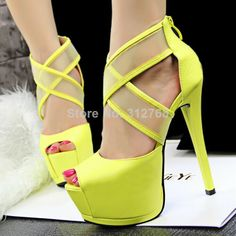 Size 3.5 - 7 NEW 2014 European fashion women High Heels platform pumps peep toe 14cm Stiletto sexy ladies party shoes thin heel $32 free shipping