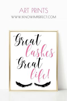 Beautiful girly prints packed with inspiration and glamour.  Visit www.iknowimperfect.com