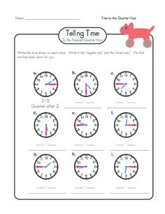 """Practice telling time in the digital and """"smart"""" form with this free worksheet! #tellingtime #tellingtimepractice #freeworksheets #printableclocks"""