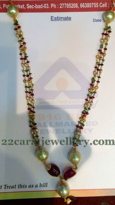 Jewellery Designs: Simple Elegant Beads Set