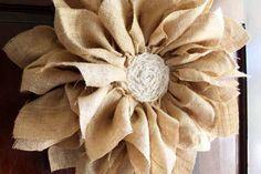 Make a burlap flower wreath for your spring porch decor!