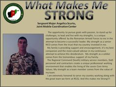 Romanian Sergeant Major Angelica Scurtu talks about serving his country and working with the ISAF Regional Command (South).