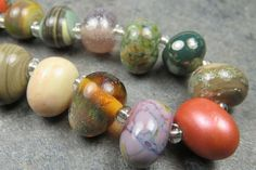 Into the Fire Lampwork Art Beads ~BoHo Teardrops~ Artist handmade glass beads