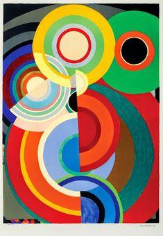 Sonia Delaunay (November 1885 – December Inspirational colourful art for PR with Perkes Art Works, Art Lessons, Geometric Art, Modern Art, Art Painting, Abstract Painting, Art Movement, Abstract, Sonia Delaunay