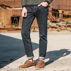Men's Jeans, Fashion Brand Jeans, Slim Fit Denim Trouser, Black