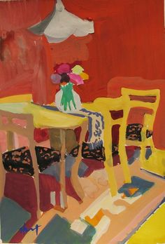 Gouache - Linda Hunt Fine Art Orange Interior, Gouache, Still Life, Cool Art, Fine Art, Contemporary, Cool Stuff, Painters, Inspire