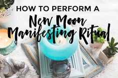 How to perform a New Moon Manifesting Ritual - Brittney Carmichael New Moon Rituals, Full Moon Ritual, Full Moon Astrology, Moon Spells, Wiccan Spells, Magic Spells, Magick, Moon Activities, Strawberry Moons