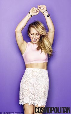 Hilary Duff on Life After Divorce: 'I Don't Know if People Are Meant to Be Together Forever': Photo Hilary Duff looks smokin' hot in short shorts and a tight jacket on the cover of Cosmopolitan magazine's April 2015 issue, on newsstands March Here's what… Mini Shorts, Short Shorts, Beautiful Celebrities, Beautiful People, Beautiful Body, Hilary Duff Style, Aaron Carter, White Lace Skirt, Pink Crop Top