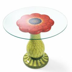 Sweet Blooming Pedestal Table from Grandin Road. Where wouldn't I use this?