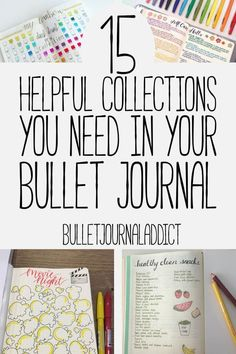 Bullet Journal Collections - Bullet Journal Inspiration for Collections to Try in Your BuJo - 15 Helpful Collections You Need In Your Bullet Journal Bullet Journal Hacks, Bullet Journal How To Start A, Bullet Journal Ideas Pages, Bullet Journal Spread, Bullet Journal Layout, Journal Pages, Bullet Journals, Planner Journal, Journal Quotes