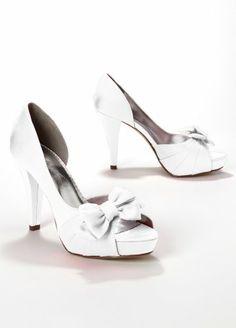 fa52cad9fb7 Satin Peep Toe Platform High Heel with Bow Maribelle