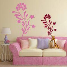 Naklejka jednokolorowa - Kwiatek | Singlecolor decorative sticker - Flower | 24,99 PLN #kwiatek #naklejka #dekoracja_ściany #dekoracja_domu #aranżacja_ściany #wall_decal #sticker #flower #pattern #home_decor #interior_decor