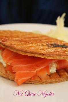 Delicabar Le Bon Marche smoked salmon mille feuille