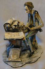 Vtg LO SCRICCIOLO Hand Made Pottery Figurine Sculpture Signed A. COLOMBO: Writer