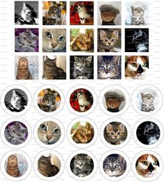 Cats Digital Collage 1 inch / 44 by LisaChristines on Etsy, $1.50
