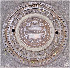 csatornafedél Széchenyi rakpart - manhole cover Széchenyi quay - Budapest 2