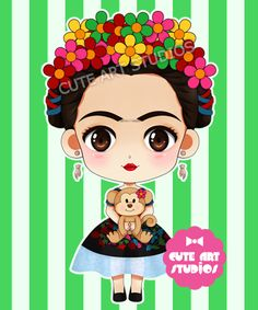 Frida Kahlo chibi vrsn by crowndolls
