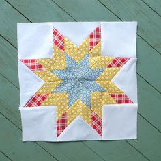 """Sewn: 33 - Mini Lone Star 12"""" finished block - great tutorial and pictures"""