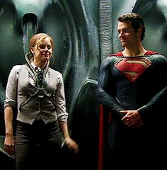 Henry Cavill - Man of Steel DVD GIF .... Amy Adams is just adorable