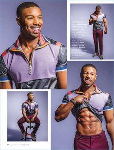 Michael B Jordan for Essence Magazine Fine Black Men, Gorgeous Black Men, Cute Black Guys, Handsome Black Men, Black Boys, Fine Men, Cute Guys, Beautiful, Michael B Jordan