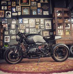 Shibuya Garage Nine-T Bmw Cafe Racer, Moto Cafe, Cafe Racers, Cafe Bike, Custom Cafe Racer, R65, R1200r, Bmw Scrambler, Street Scrambler