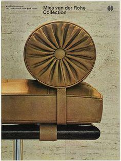 Vintage Knol Mies van der Rohe advertisement. / Pinterest