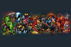 DC and Marvel Super Heroes Marvel Vs, Marvel Dc Comics, Marvel Heroes, Marvel Characters, Superhero Quiz, Superhero Wall Art, Comic News, Comic Art Community, The Dark Knight Rises