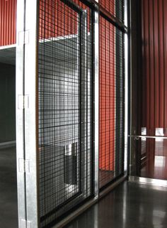 Harley Davidson Museum - Rigid Woven Wire Mesh Entrance Gates - Banker Wire | Banker Wire Project
