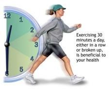 Exercise 30 Minutes a Day Yeah, yeah