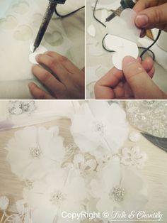 {Process Show Time} Hand-made Chiffon Bridal Dress | http://www.tulleandchantilly.com/blog/process-show-time-hand-made-chiffon-bridal-dress/