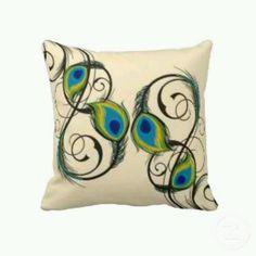 Peacock throw pillow :)