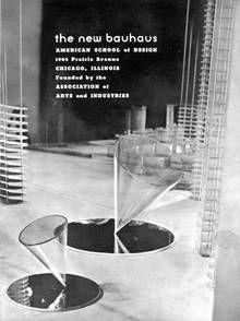 """László Moholy-Nagy, Prospekt """"the new bauhaus"""", Chicago 1937/1938"""