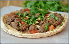 "Ground Lamb and Hummus Pita ""Pizzas"" + Weekly Menu - Prevention RD"