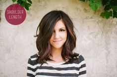 I like this length and cut. If I ever go crazy and chop my hair or get gum stuck in it and have to chop it.