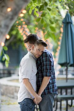 Dominic and Christopher's Engagement Session at Warner Bros Studios in Los Angeles http://www.evematch.com/ #Lesbian #LGBT