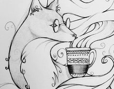 """Check out new work on my @Behance portfolio: """"fox and coffee"""" http://be.net/gallery/36323897/fox-and-coffee"""