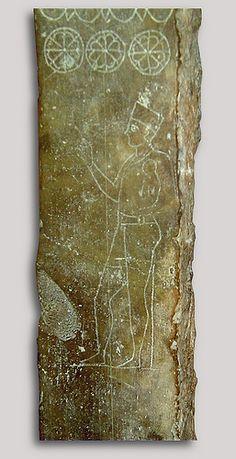 Bardo. Fenicia stèle du prêtre, Priest. Archaic Stele found in Carthage en 1921, Musée du Bardo. Bardo National Museum, Cartago. Tunis, Tunisie, Tunisia.