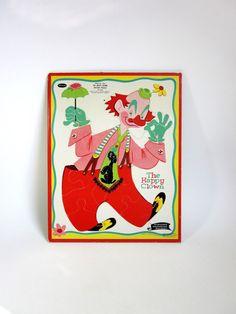 Whitman The Happy Clown Frame Tray Puzzle 1960 by OopseeDaisies, $14.00